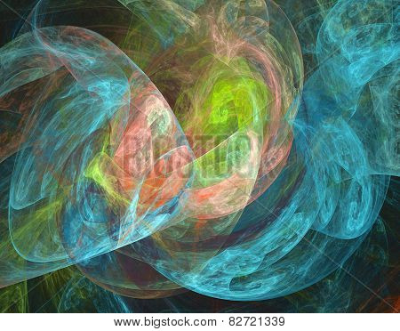 Beautiful Iridescent Plasmatic Background In Blue, Pink And Green
