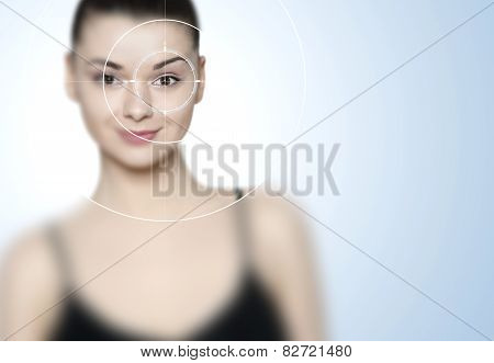 Beautiful Young Woman - Laser Eye Correction Concept