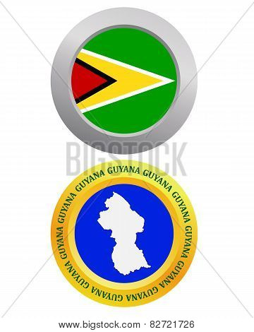 Button As A Symbol Guyana