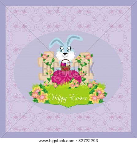 Greeting Card With Easter Bunny