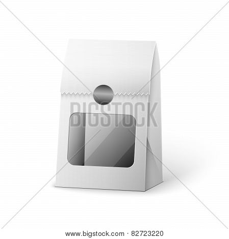 Paper Bag Package Of Coffee Salt Sugar Pepper Spices