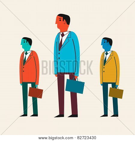 Vector illustration of a cartoon businessman.
