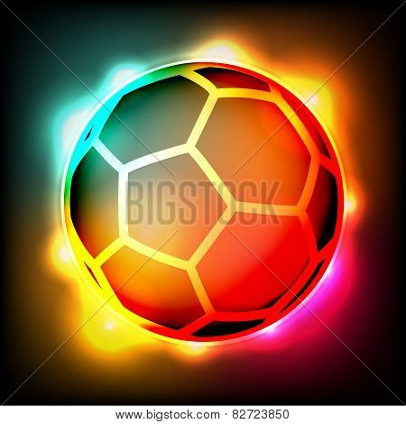 Soccer Ball Football Colorful Lights Illustration