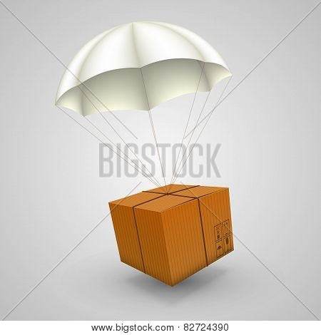 air parcels on a white background