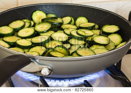 Zucchini While Cooking