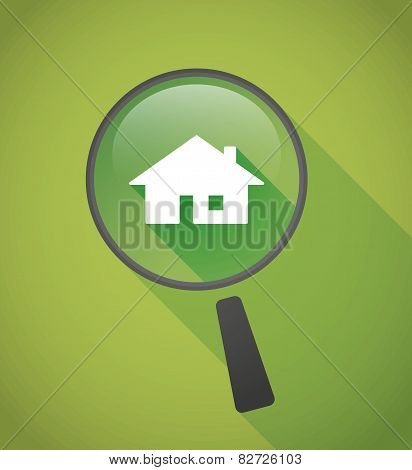 Magnifier Icon With A House