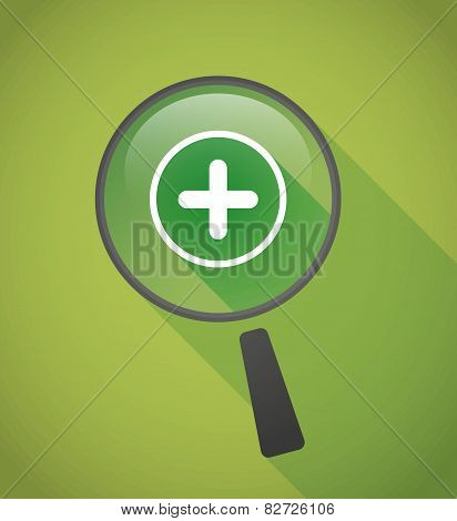 Magnifier Icon With A Sum Sign