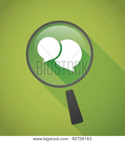 Magnifier Icon With A Comic Balloon