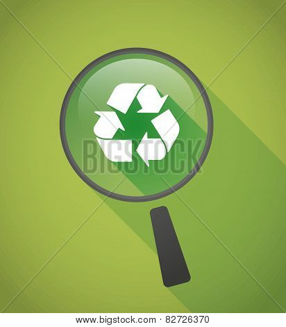 Magnifier Icon With A Recycle Sign