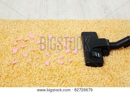 Vacuum cleaner to tidy up carpet