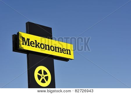 Mekonomen sign