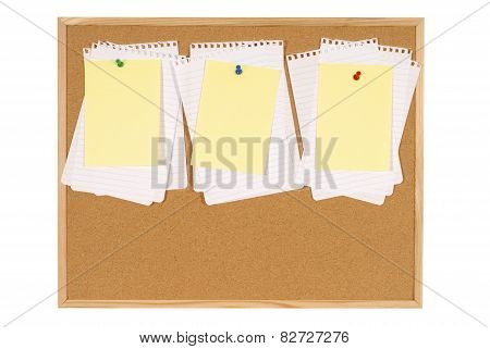 Bulletin Board Untidy Paper