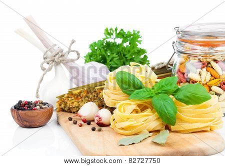 Fresh Pasta And Italian Ingredients