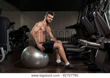 Handsome Man With An Exercise Ball