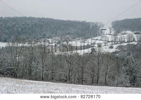 Snowy hilltop