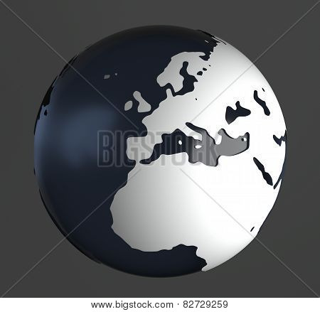 Globe On Gray