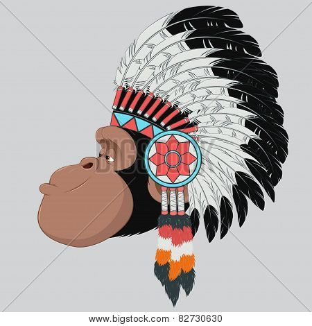 Monkey Indian Chief