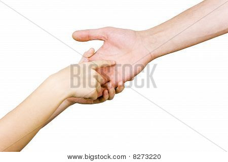 Child Guesses The Man's Hand