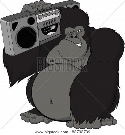 Monkey with a tape recorder