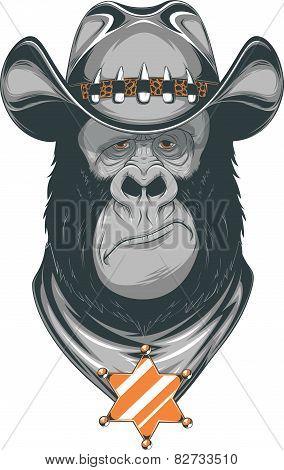 Gorilla - cowboy
