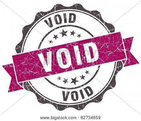 Void Grunge Violet Seal Isolated On White