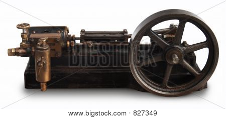 steam piston wheel