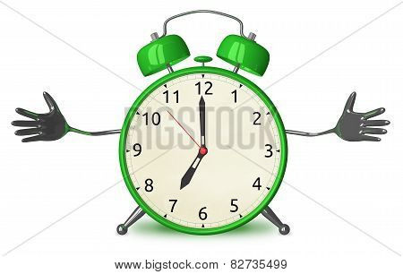 Welcoming Green Alarm Clock
