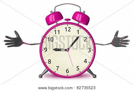 Welcoming Pink Alarm Clock