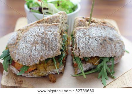 Masala sandwich.