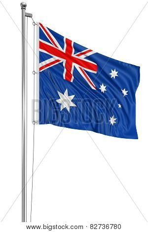 3D Australian flag (clipping path included)