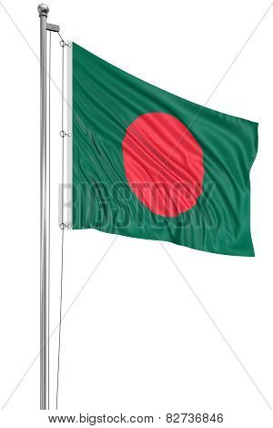 3D Flag of Bangladesh (clipping path included)