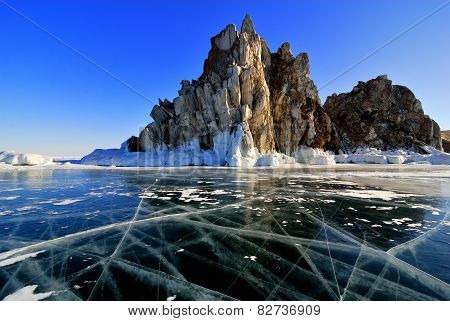 Lake Baikal Winter View