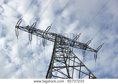 High Voltage Line From Below