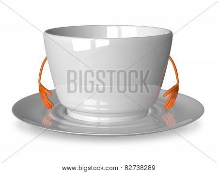 Empty White Cup Character