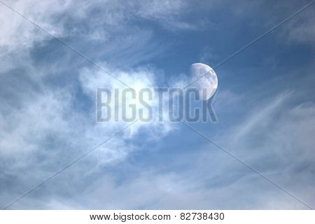 Moon With Clouds