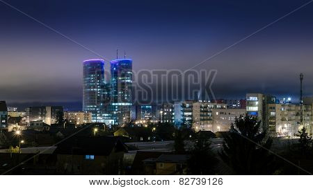 Zagreb Croatia night scape
