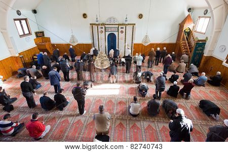 Praying In Mosque
