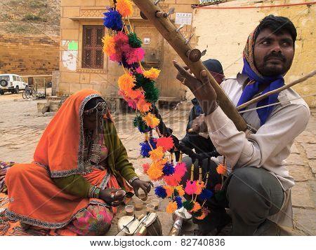 Local artist in India