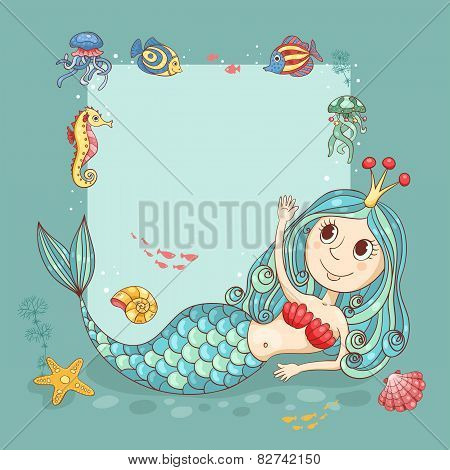 Cutest Card With The Mermaid Princess