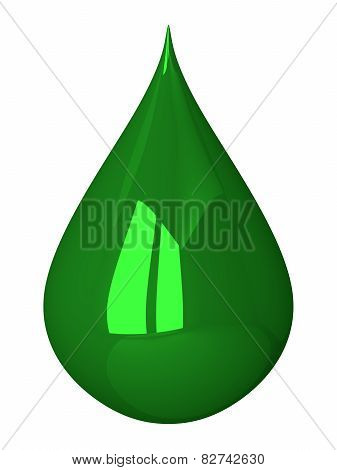 Green Drop Isolated