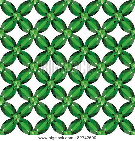 Flower Mesh Emeralds Seamless Texture Vector