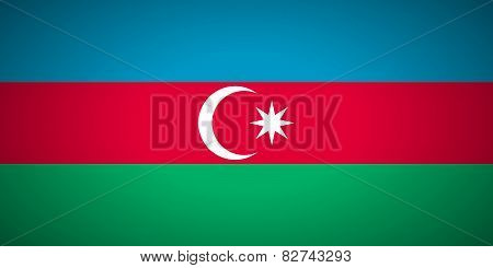 Flag Of Azerbaijan.