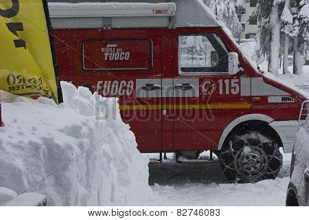 Italian Fire Rescue Vehicle