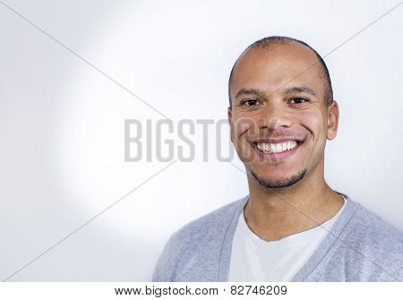 Mixed race man smiling to camera