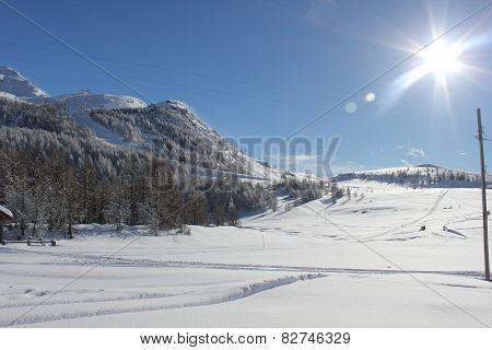 Sunny Day In Italy Winter Season