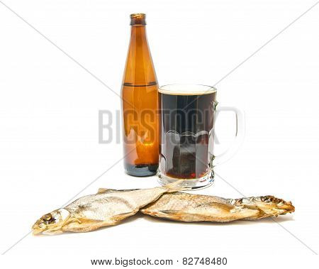 Dark Beer And Salted Fishes