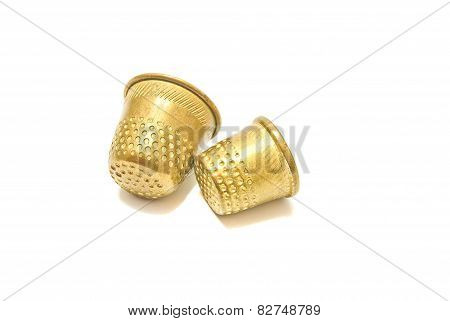 Pair Of Golden Thimbles