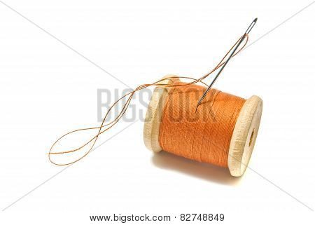 Spool Of Orange Thread