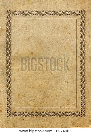 Aged Paper With Border
