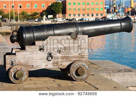 Old Cannon La Spezia Italy